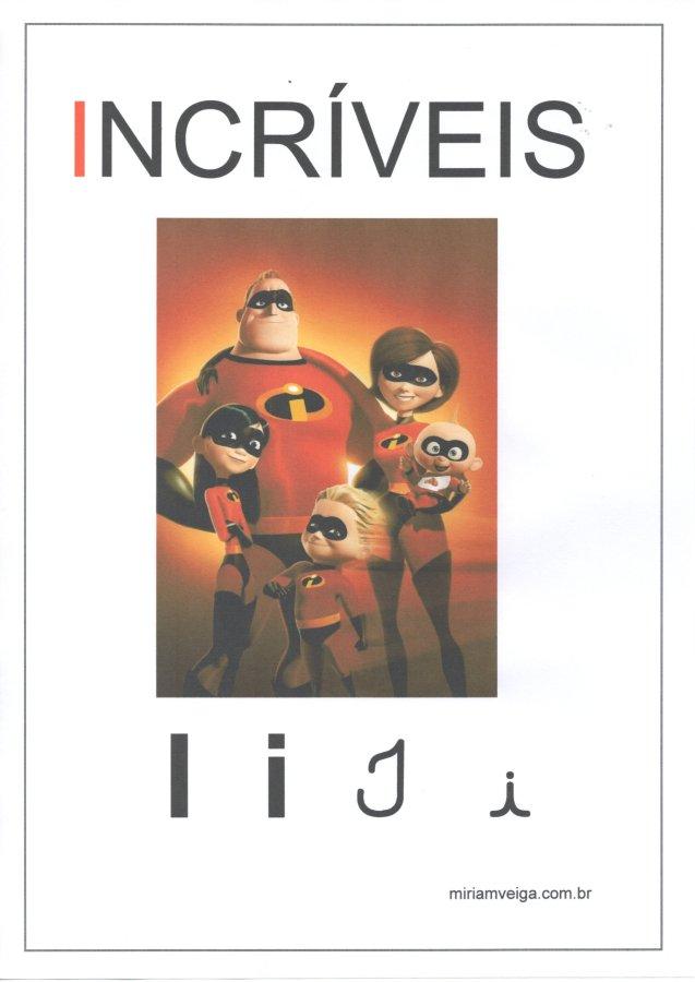 Alfabeto para parede-Filmes com ABCD-Letra I