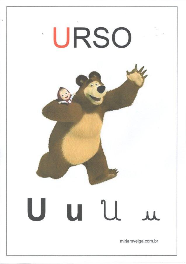 Alfabeto para parede-Filmes com ABCD-Letra U