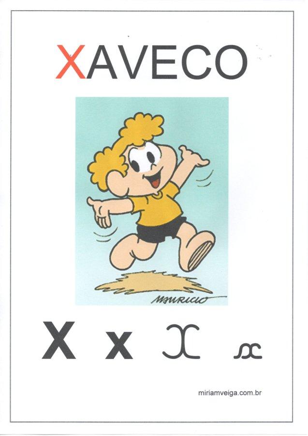 Alfabeto para parede-Filmes com ABCD-Letra X