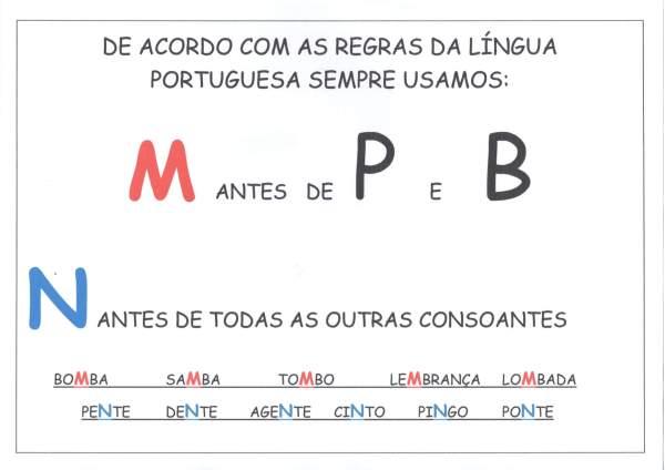 Cartaz-Uso do M antes de P e B