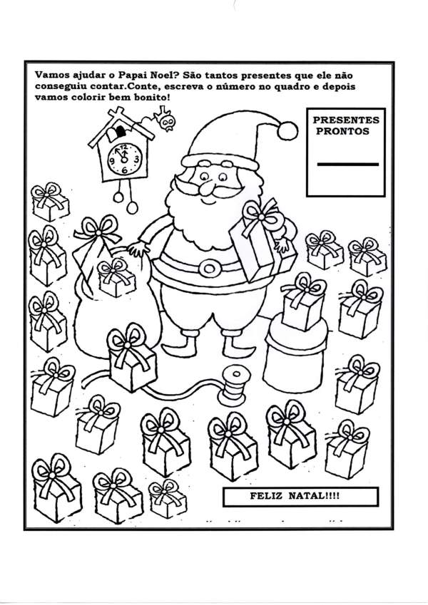 Atividade de Contagem-Tema Natal