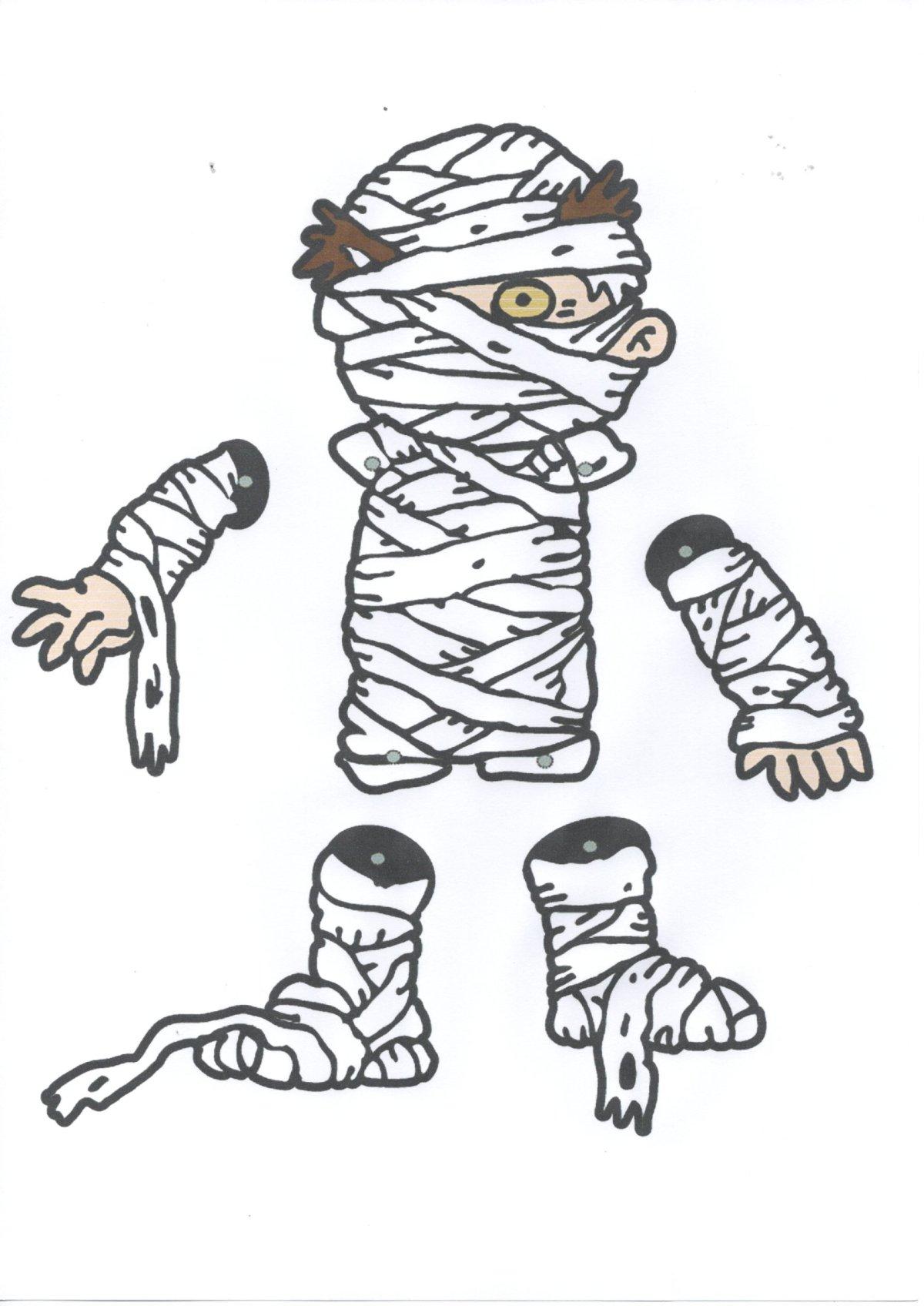 Figuras para recortar e montar-Múmia