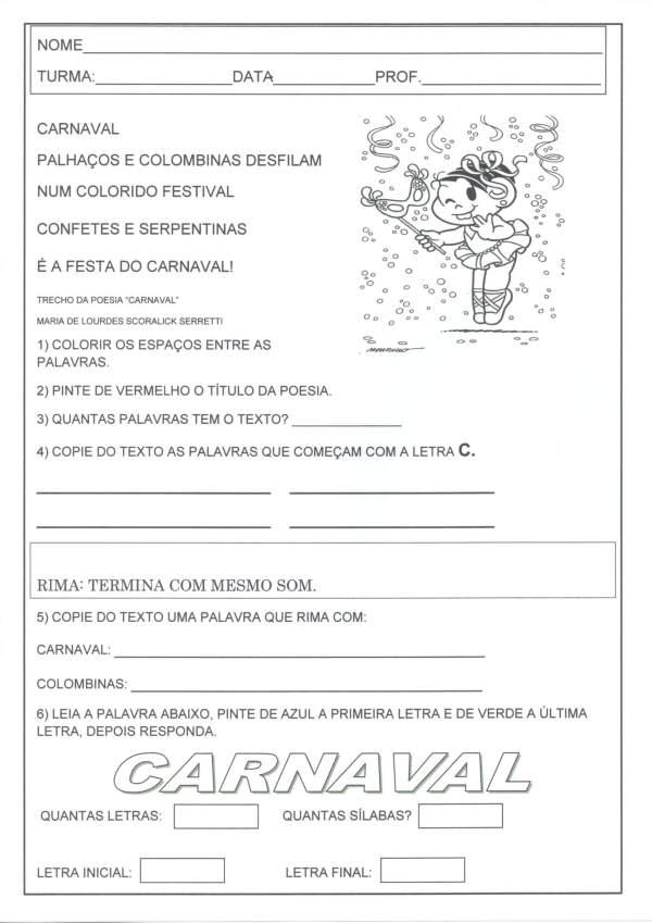 CARNAVAL-Letra Silaba Letra Inicial e Final