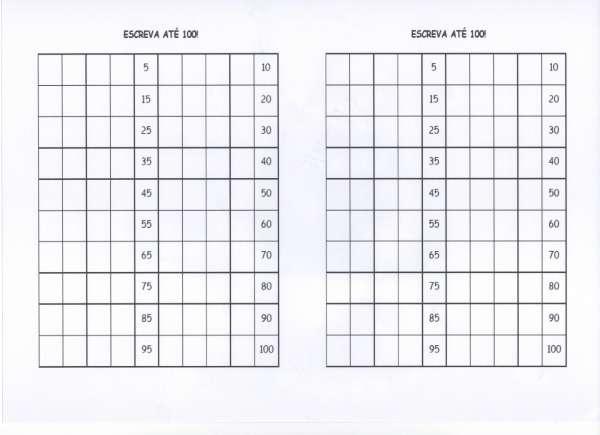 Atividade com numerais-Copie com Atenção-Folha 2