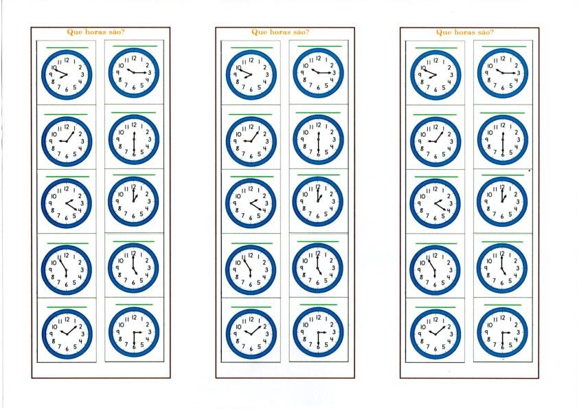Relógio Analógico-Que horas são