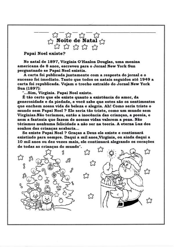 Leitura e Interpretação de texto-Noite de Natal