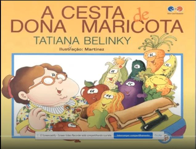 A CESTA DE DONA MARICOTA-Vídeo do Livro