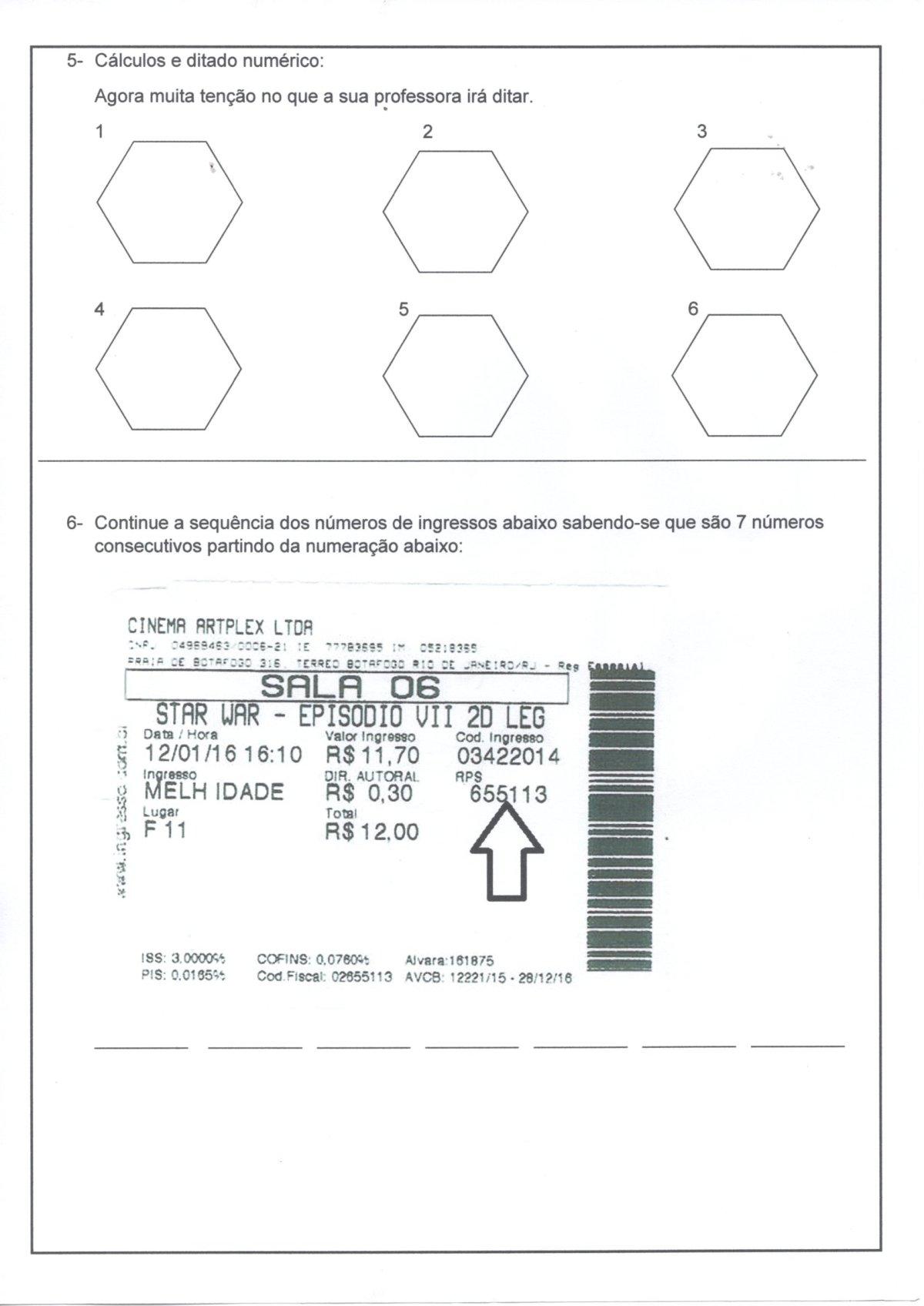 Avaliação de Matemática-5 Ano-Classes e Ordens-Parte 2