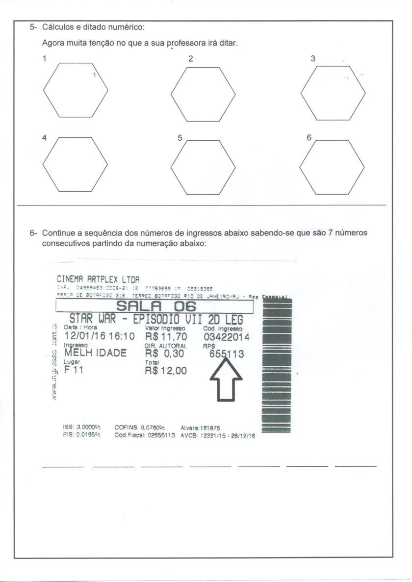 Avaliação de Matemática-5 Ano-Classes e Ordens-Parte 2-Folha 3