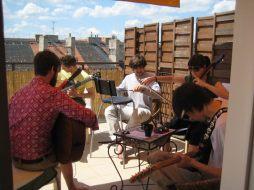 Ali Warren band rehearsals in Prague