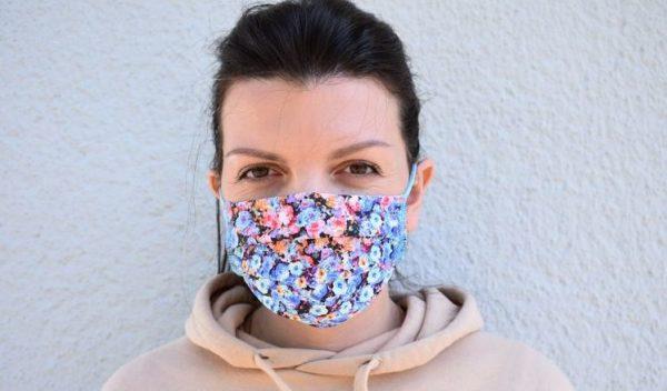 Schutzmaske Mundschutz Baumwolle Waschbar Blumen