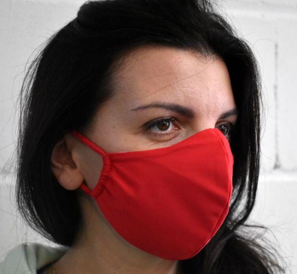 Schutzmaske,Behelfsmaske,Mundschutz rot
