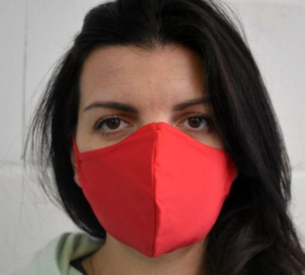 Schutzmaske,Mundschutz,Behelfsmaske rot