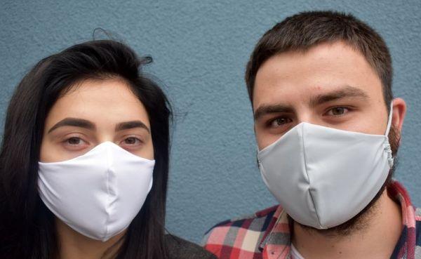 Mundschutz, Gesichtsmaske, Schutzmaske weiß oder grau