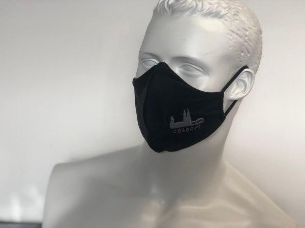 Mundmaske Mundschutz schwarz Cologne Köln