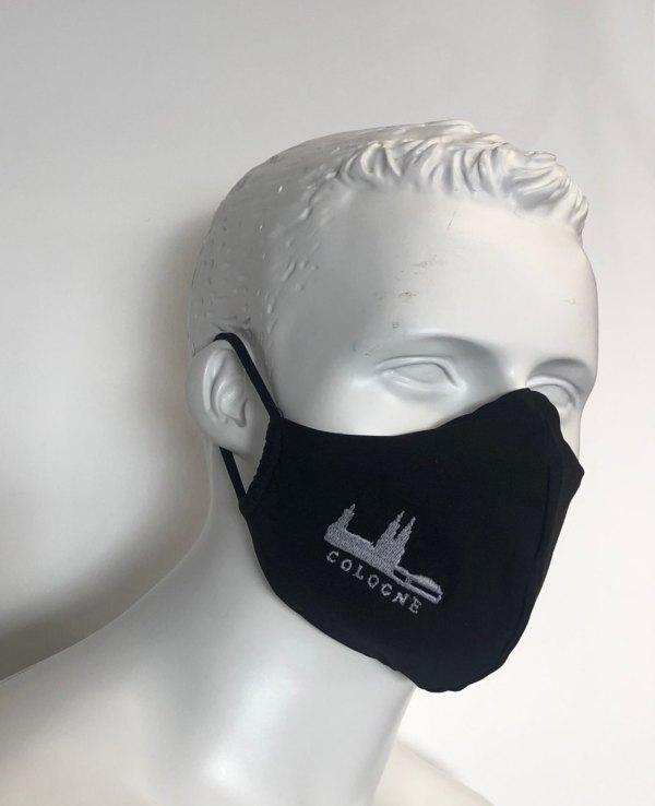 Mundmaske Schutzmaske schwarz Cologne Köln