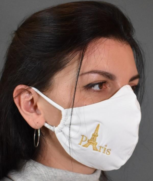 Mund Nasen Maske Paris Stickerei