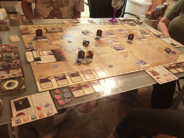 Eldritch Horror, almost all of the setup