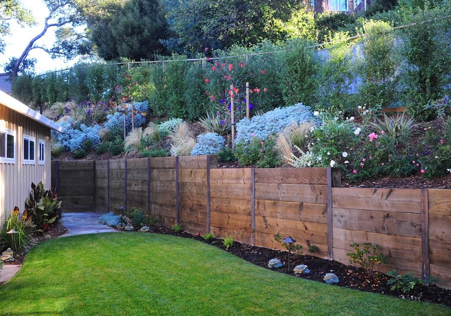 Building Raised Garden Against Fence