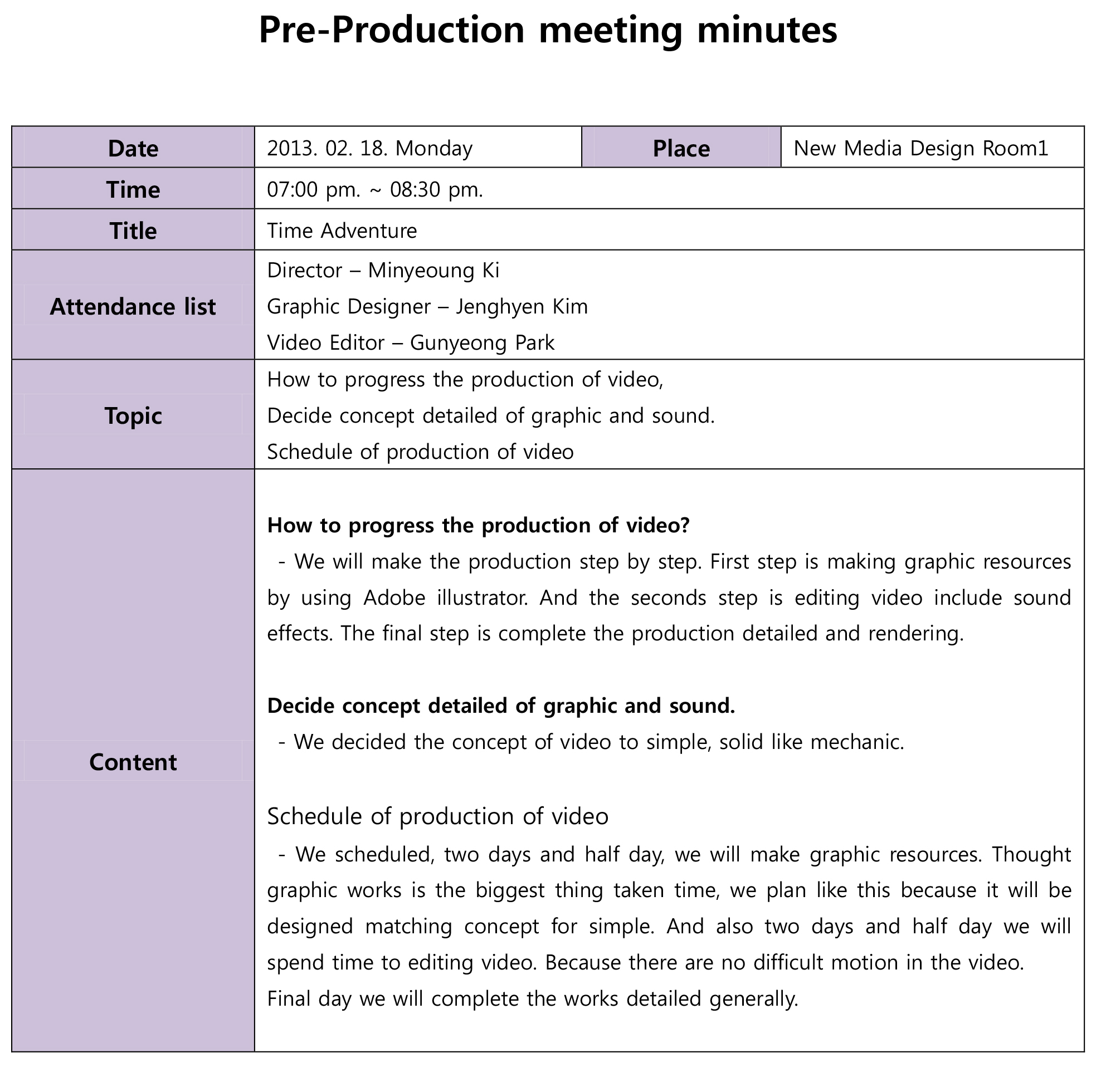 document arrange content of meeting meeting is an important things we