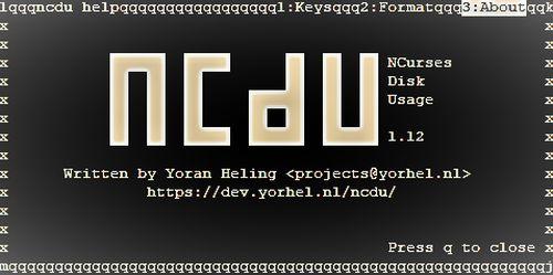 NCDU — кто занимает место на диске?