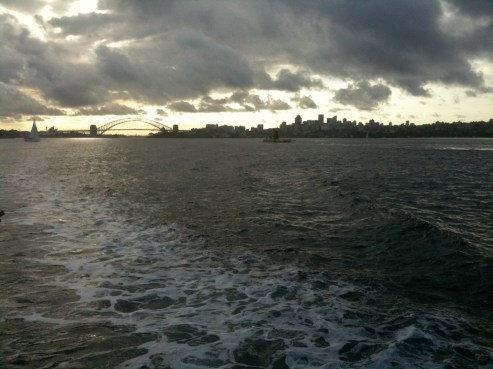 Sydney on the ferry to Manly