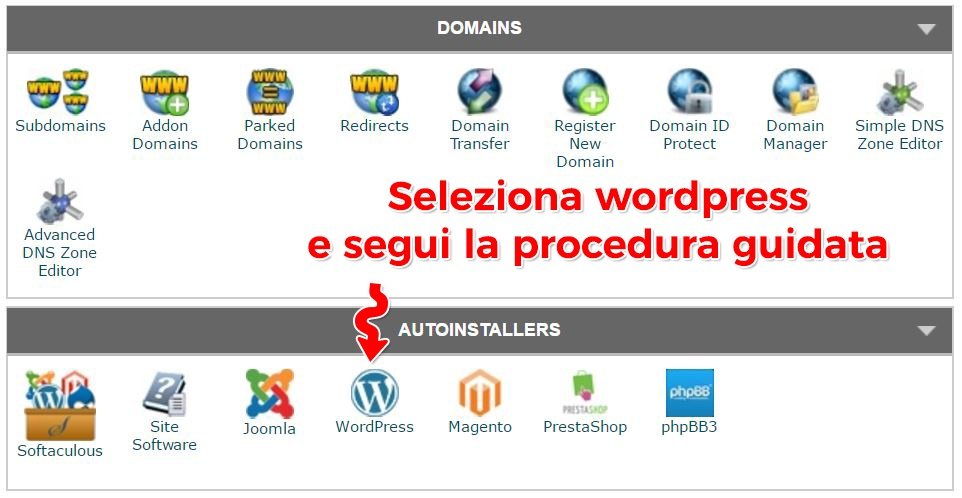 installare wordpress su hosting parte 2