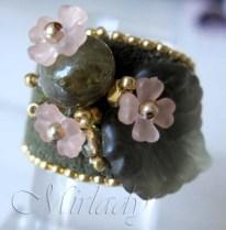 ring met groene granaat 1