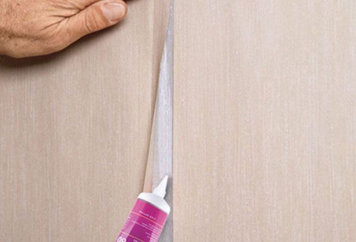 How to fix the joints on the wallpaper  Split wallpaper at