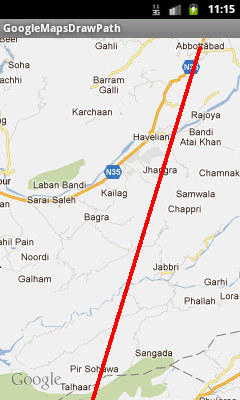 Android Google Maps Tutorial Part 7, Drawing A Path or Line Between Two Locations (1/3)