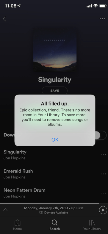 A message to Spotify: Limiting my library is a big problem