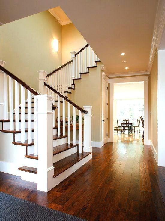 Modern Wood Stair Railing By Putra Sulung Medium   Wood Stair Railings Interior   Residential   Craftsman Style   2Nd Floor   Paint   Rosette
