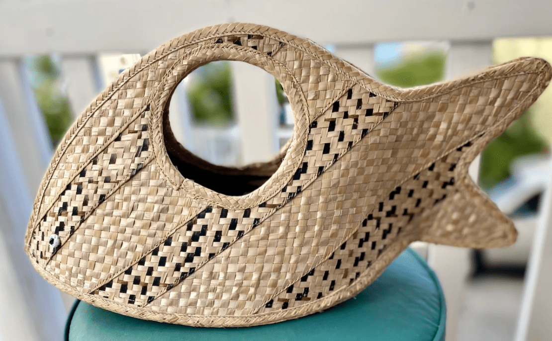 A beautiful straw bag from Island Straw Co.