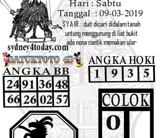 Kode Syair Togel Singapura Sabtu  Venny Halim Medium