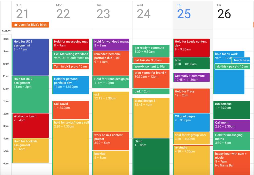 Color Code Your Calendar Already By Dan Silvestre Forge