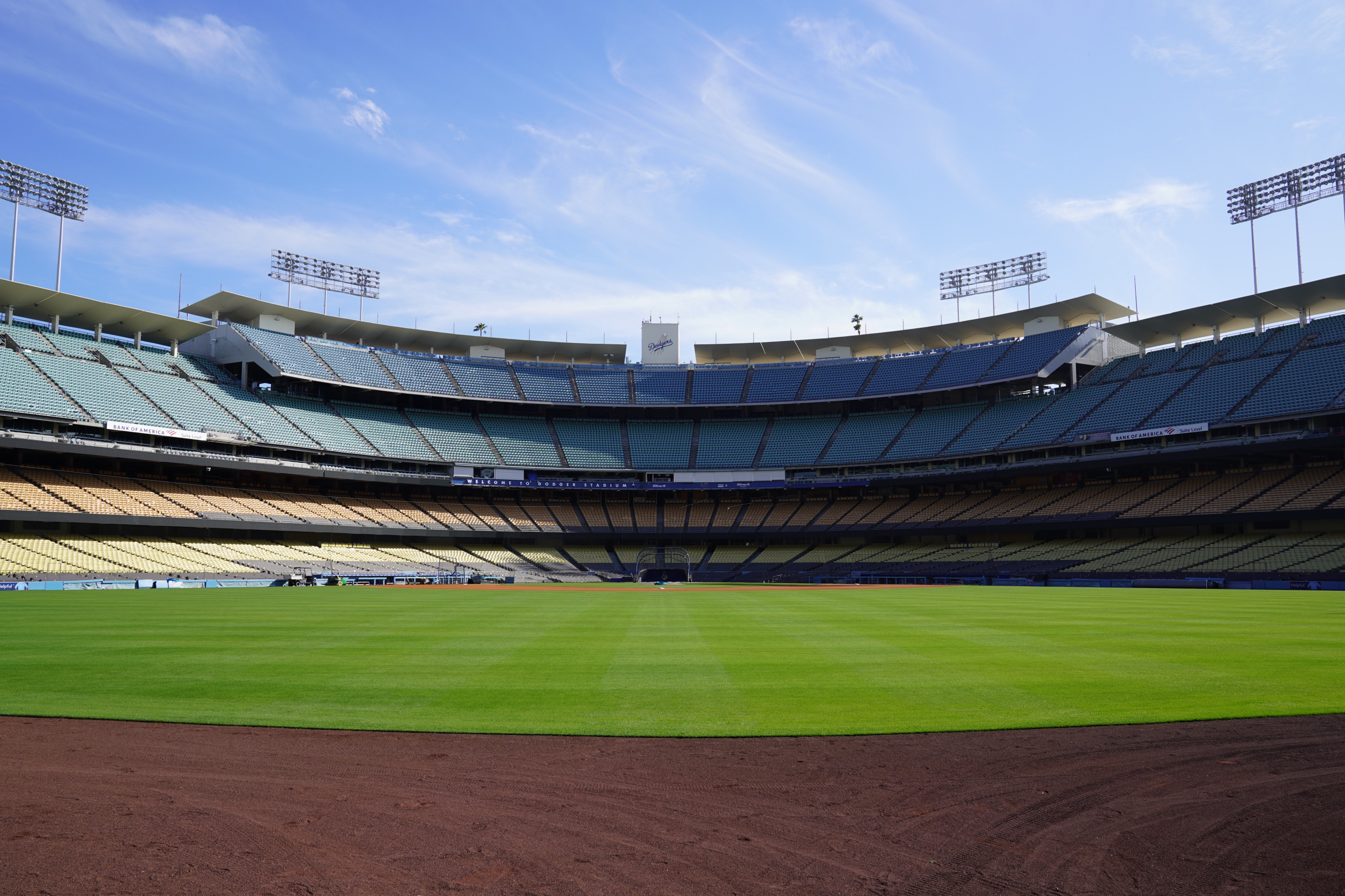 fans can claim seats at dodger stadium