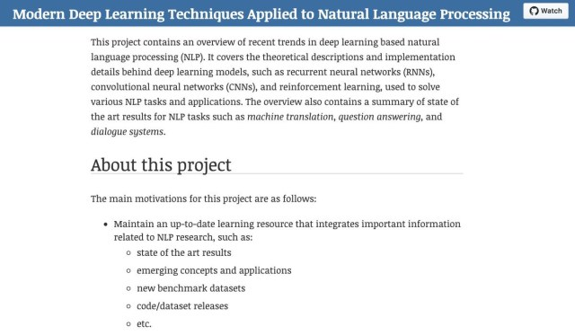 🌐Modern Deep Learning Techniques Applied to Natural Language Processing