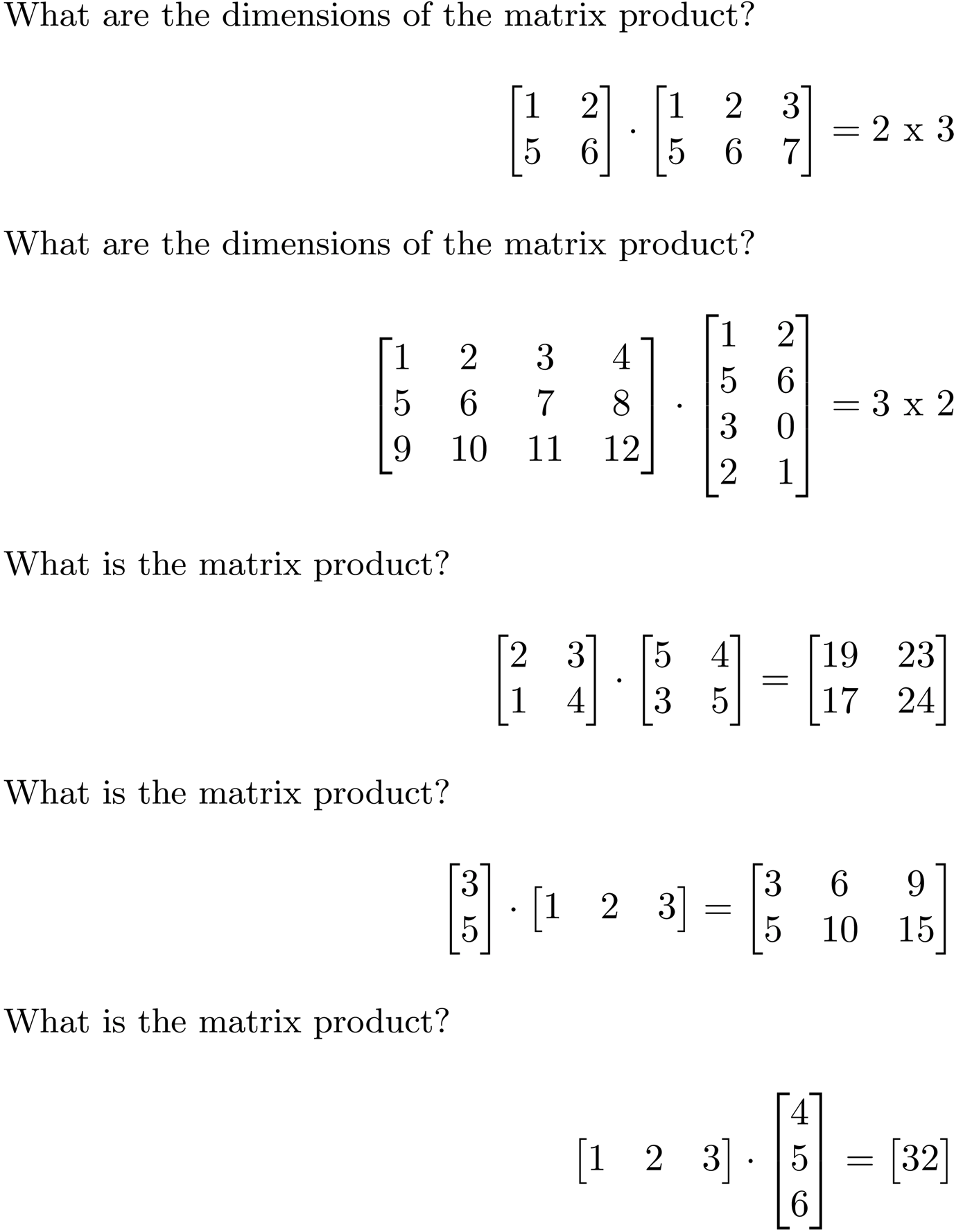 Linear Algebra Cheat Sheet For Deep Learning