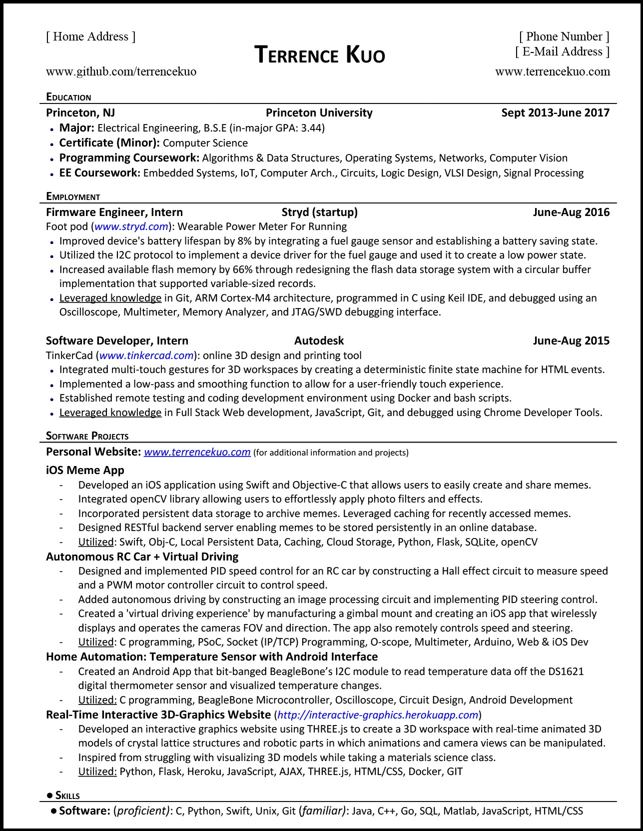 How To Write A Killer Software Engineering Resume