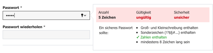 password validation form