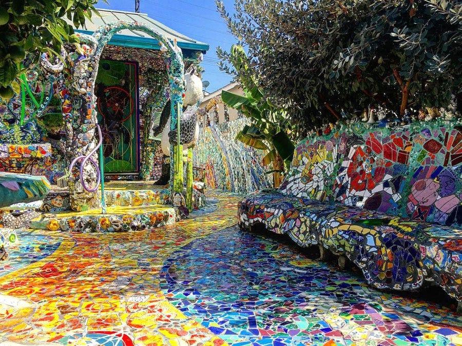 gram mosaic tile house in venice ca