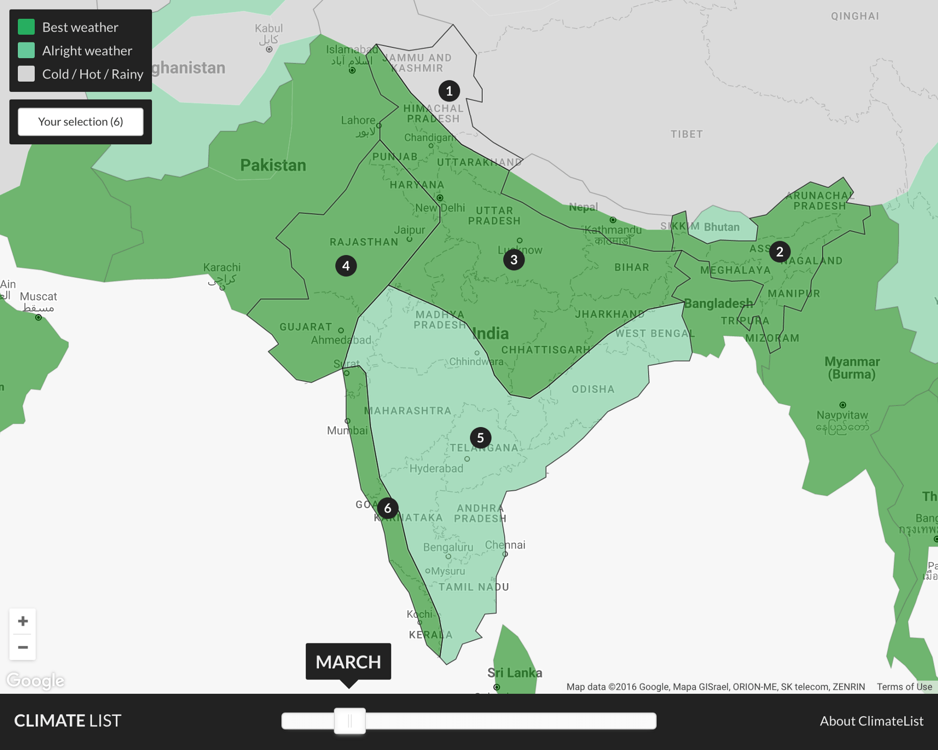 Map Of India Showing Climatic Zones