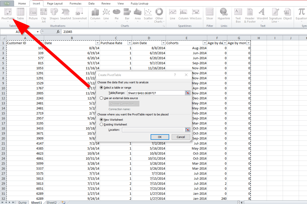 How To Do Your Cohortsysis In Spreadsheet Amp Excel A