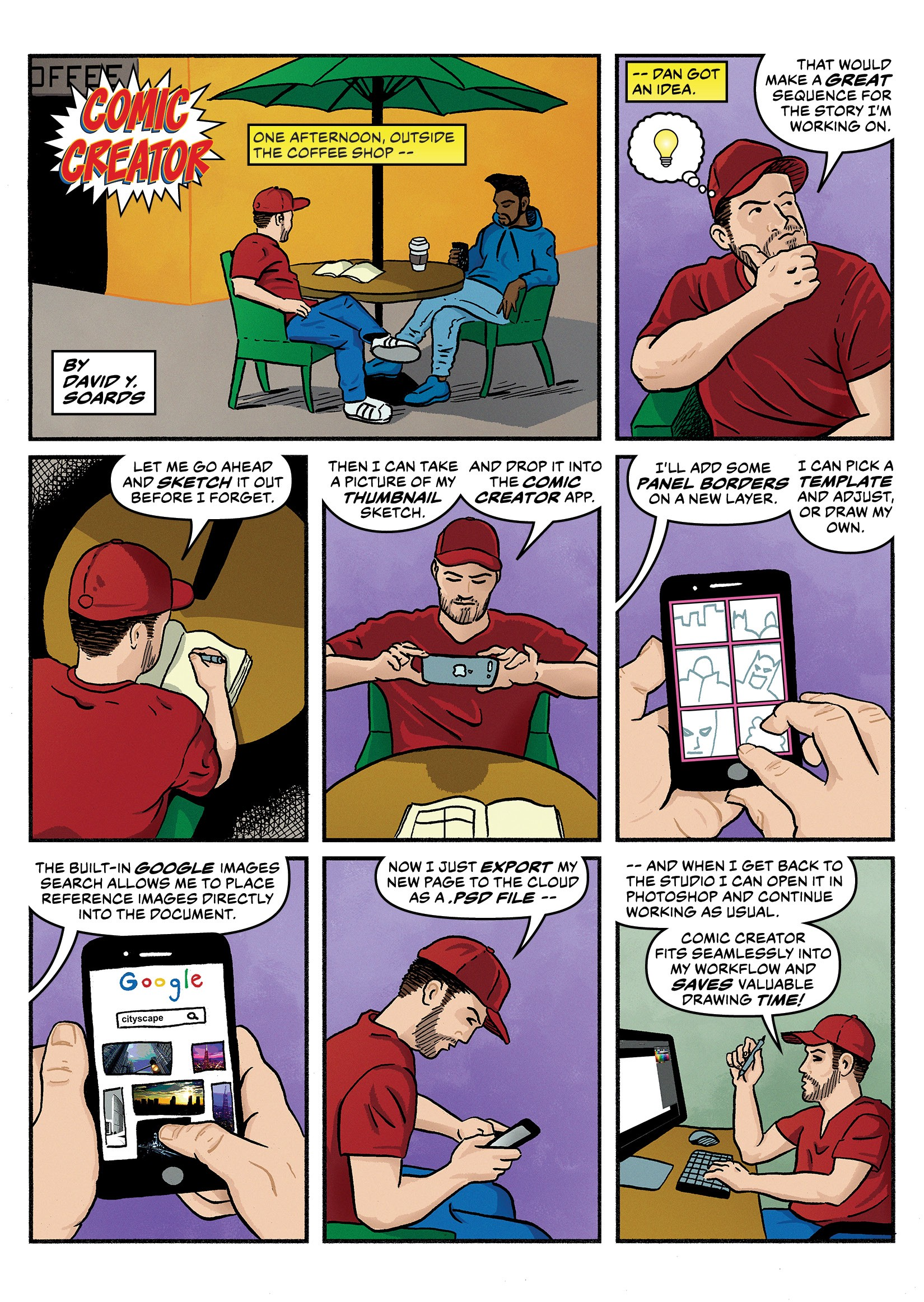Designing The Comic Creator Mobile App