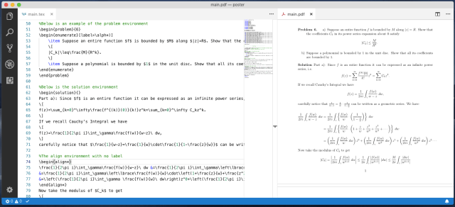 Writing LaTeX Documents In Visual Studio Code With LaTeX Workshop