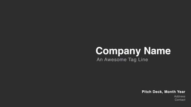 A Simple Pitch Deck [Template]. We get hit with all kinds of pitch