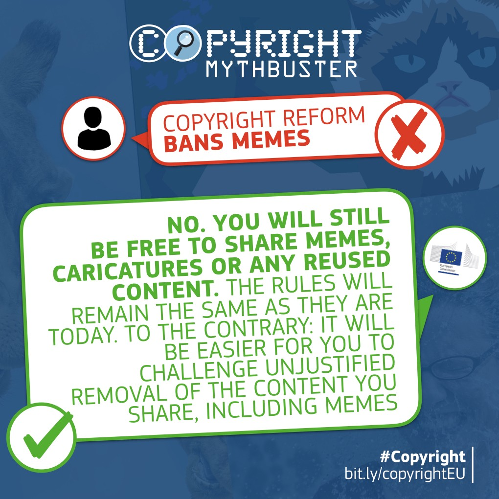 No No No We Are Not Banning Memes By European Commission