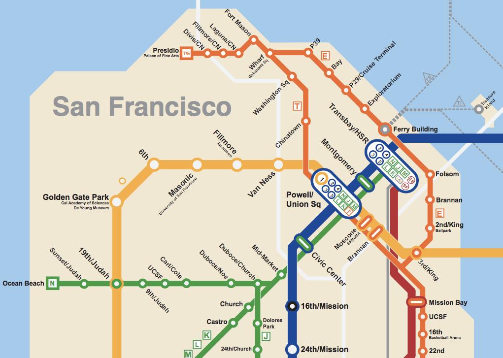 Bay Area 2050 The Bart Metro Map Future Travel