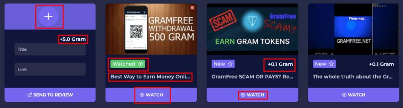 watch video on gram free