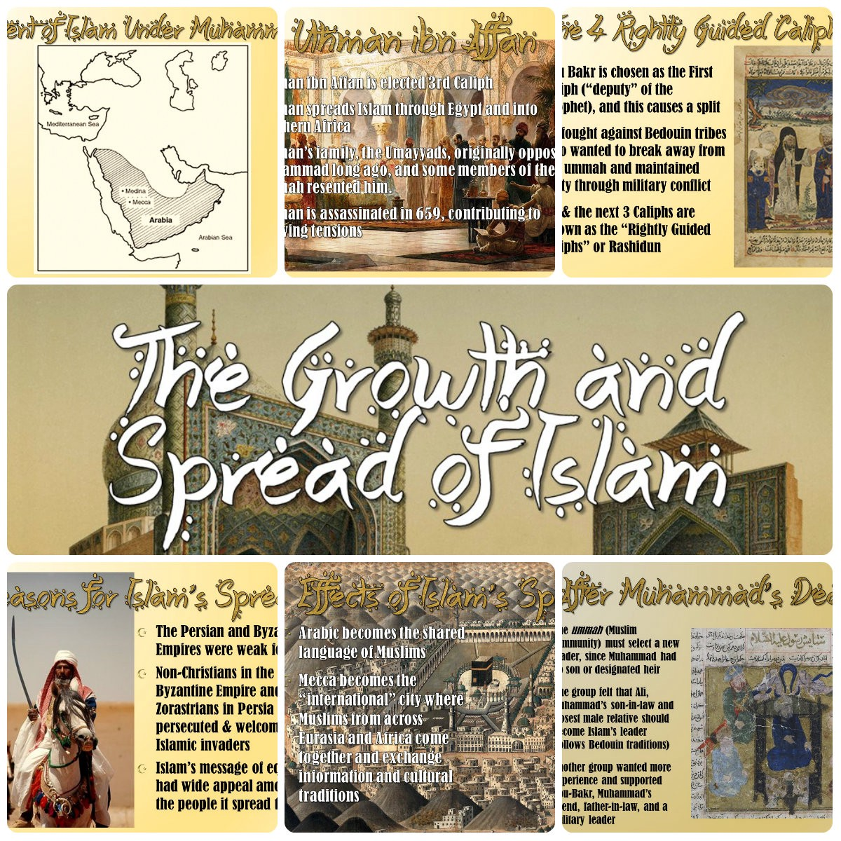 Islam Growth Amp Spread Of Islamic Civilizations Powerpoint